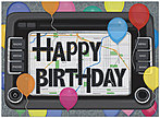 Birthday GPS Card A6034U-X