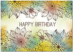Sustainable Flowers Birthday Card A6037KW-X