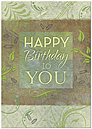 Birthday Impressions Card A6038KW-X