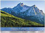 Father's Day Mountain Card A6041U-X