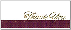 Traditional Thank You Card A6055L-X
