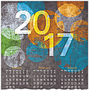 Urban Abstract Calendar Card D6100U-AA