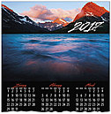 Dramatic Mountain Calendar Card D6101U-AA