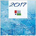 Blue Waters Logo Calendar Card D6106U-4A