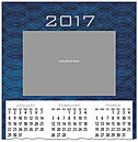 Blue Frame Photo Calendar Card D6111U-4A