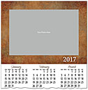 Pattern Photo Calendar Card D6117U-4A
