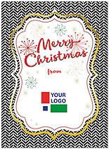 Retro Christmas Logo Card D6173U-4A