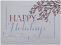 Winter Berry Holiday Card H6123S-4A
