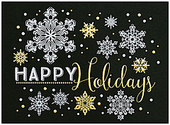 Dazzling Snowflakes Holiday Card H6124G-4A
