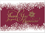 Snowflake Thank You Card H6129G-AAA