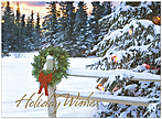Wreath Wishes Holiday Card H6134U-AA