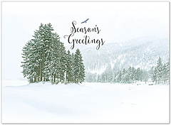 Snowscape Holiday Card H6142U-A