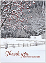 Winter Berry Thanks Holiday Card H6144U-A