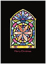 Stained Glass Christmas Card H6147D-A