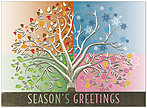 Tree of the Seasons Holiday Card H6151U-AA