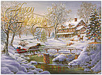 Over the Bridge Holiday Card H6153U-AA