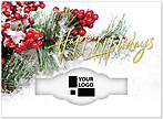 Red Berry Die Cut Holiday Card H6175U-AAA