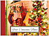 Christmas Stocking Die Cut Holiday Card H6176U-AAA