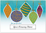 Golden Holiday Die Cut Card H6177U-AAA