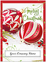 Red Ornaments Die Cut Card H6181U-AAA