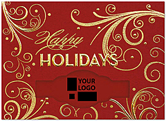Holiday Swirls Die Cut Card H6182U-4A