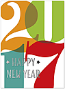 Colorful 2017 New Year's Card H6183U-AA