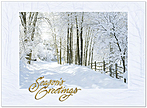 Embossed Forest Path Holiday Card H6186G-AAA