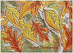 Glistening Leaves Thanksgiving Card H6064U-AA