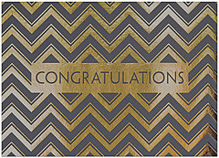 Chevron Congratulations Card A6050D-X