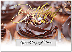 Cupcakes Die Cut Birthday Card A7001U-W