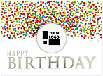 Birthday Dot Die Cut Card A7002U-W