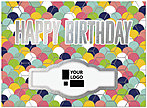 Colorful Shells Die Cut Birthday Card A7003U-W
