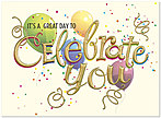 Celebrate You Birthday Card A7004G-W