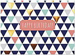Geometric Birthday Card A7007S-W