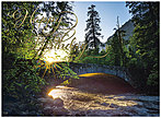 Sunlit Bridge Birthday Card A7011G-W