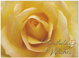 Birthday Rose Card A7012G-W