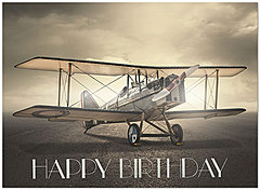 Aviation Birthday Card A7017U-X