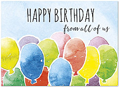 Happy Balloons Birthday Card A7019U-X