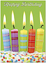 Party Candles Birthday Card A7020U-X