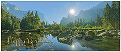 Panoramic Mountain Birthday Card A7023L-X