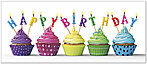 Bright Cupcakes Birthday Card A7024L-Y