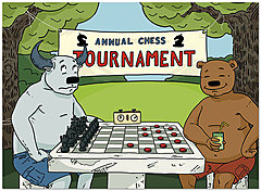 Bull & Bear Checkmate Card A7034U-Y