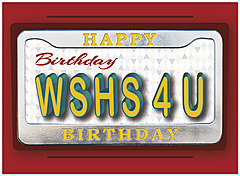 Auto Wishes Birthday Card A7036U-X