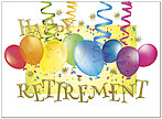 Retirement Balloons Card A7044U-X
