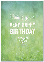 Natural Birthday Card A7046KW-X