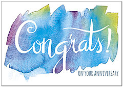 Watercolor Congrats Card A7049KW-X