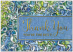Painted Thank You Card A7051D-X