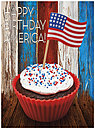 4th of July Cupcake Card A7059U-X