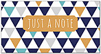 Geometric Note Card A7122T-Z