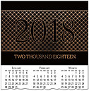 Contemporary Foil Calendar Card C7099U-AAA